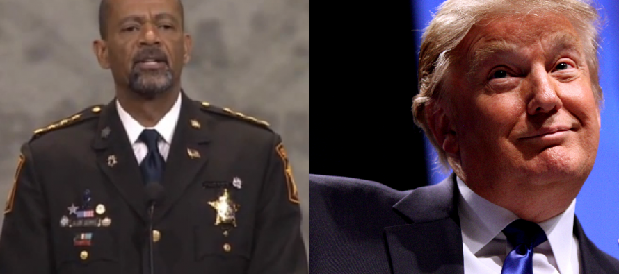 Sheriff Clarke Makes Epic 23-Word Announcement About Trump & Infuriates The Media