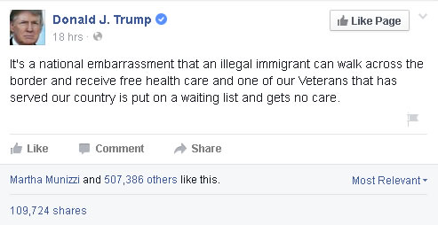 Trump on immigration