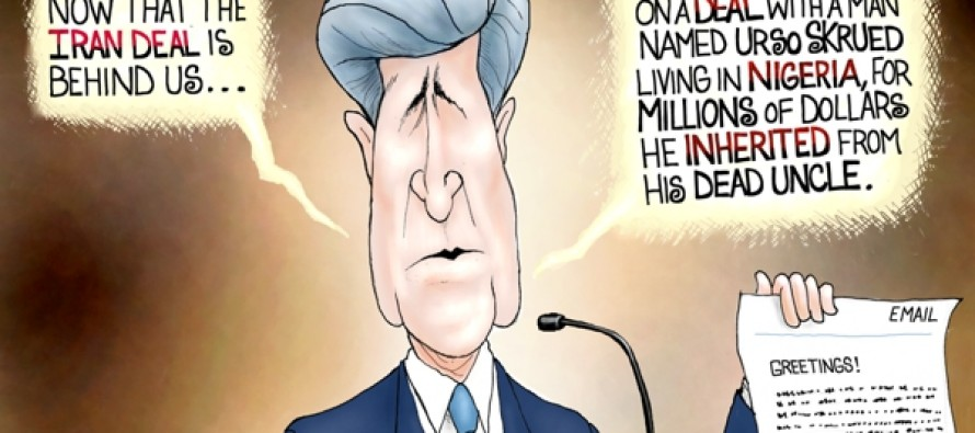 John Kerry Iran Deal (Cartoon)