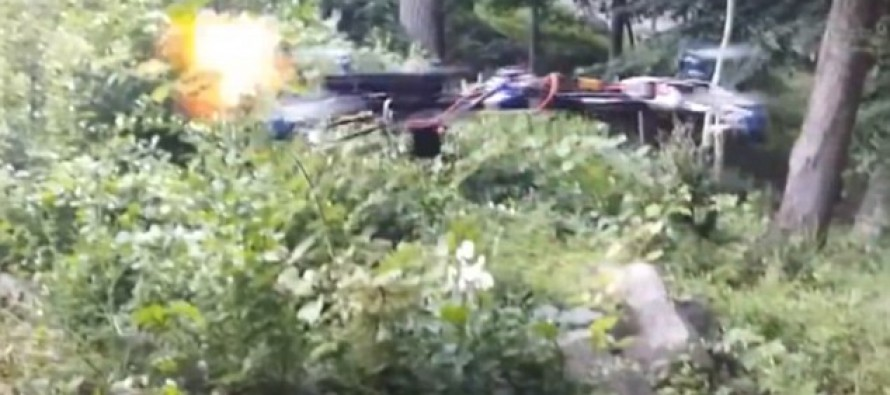Video Shows Home-Made Drone Equipped With A HANDGUN Opening Fire In The Woods