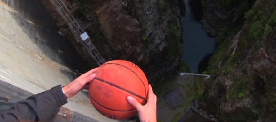 Thanks To The Magnus Effect, This Basketball Does Something Pretty Weird When Dropped