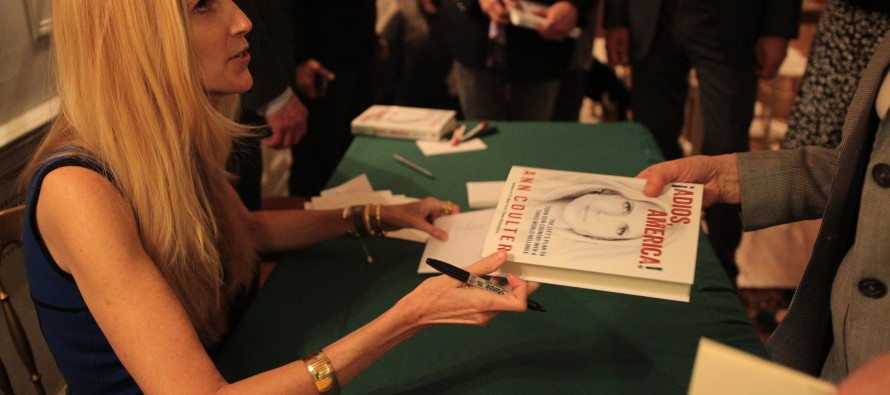 ILLEGAL ALIENS DISRUPT ANN COULTER BOOK SIGNING & She Viciously FIRES BACK