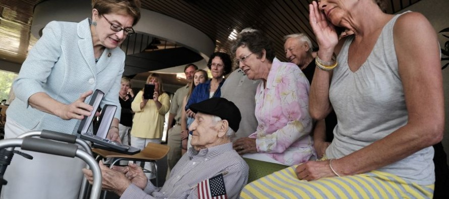 WW2 Veteran Receives a Dozen Honorary Medals at 101