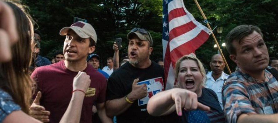 Activists Planned to Burn the U.S. Flag in a NYC Park – But When They Showed Up, These Guys Were Waiting