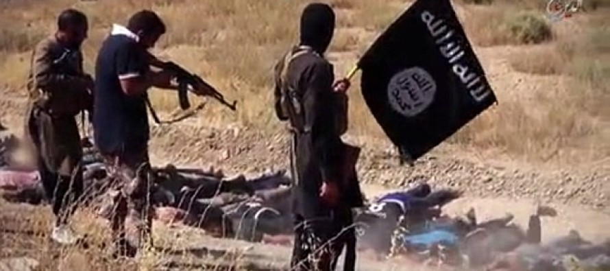 ISIS Releases Sickening New Video of Their Most Brutal Massacre Ever as Prisoners are Made to Lie Down in Mass Graves Before Being Machine Gunned to Death