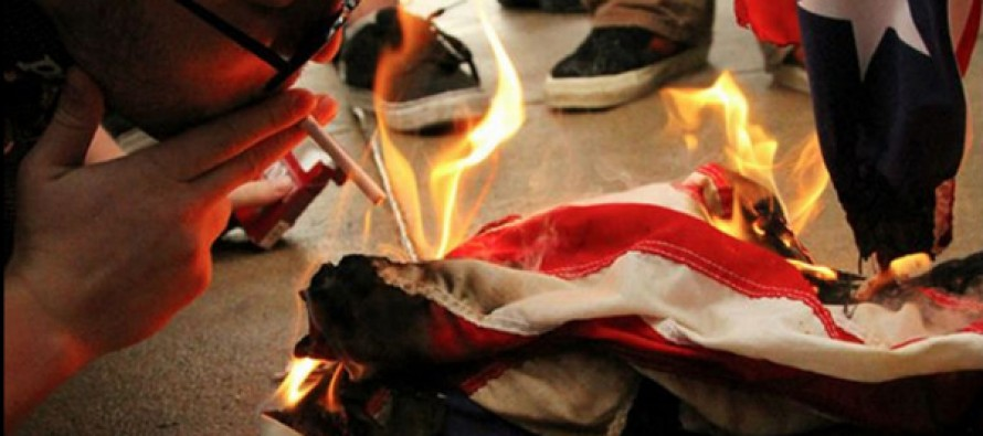 "Liberal Group Named ""Disarm NYPD"" Plan American Flag Burnings In New York City"