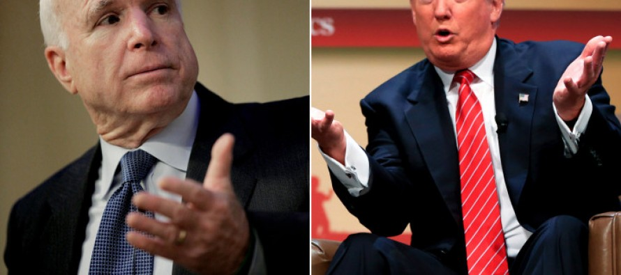 Old School Manliness : Trump Returns Fire on John McCain: 'I Like People That Weren't Captured' ,