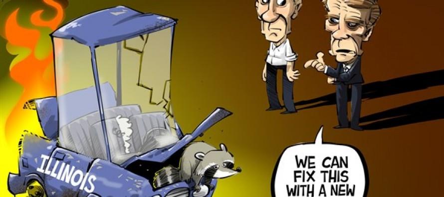 Illinois Easy Pension Fix (Cartoon)