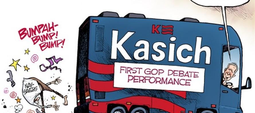 Kasich the Debater (Cartoon)