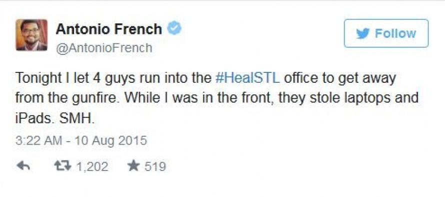 Ha, Ha! #BlackLivesMatter Leader Has Laptops, iPads Stolen By Ferguson Protesters