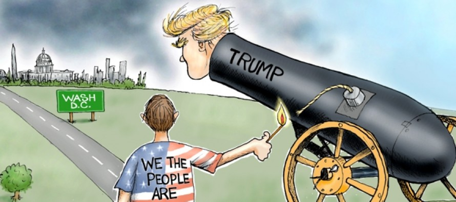 Trump Explodes (Cartoon)