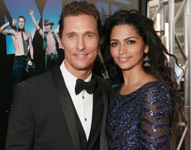 Matthew and Camila McConaughey