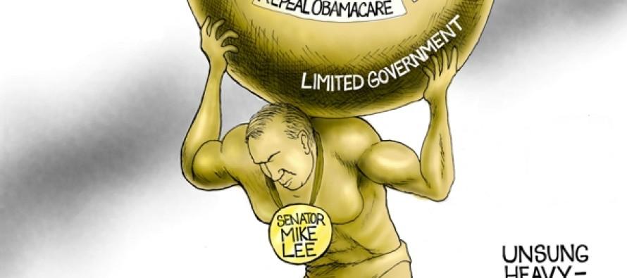 Senator Mike Lee (Cartoon)