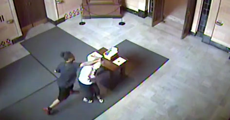 Evil Video: Thugs Rob Old Woman and Punch Her Out IN CHURCH