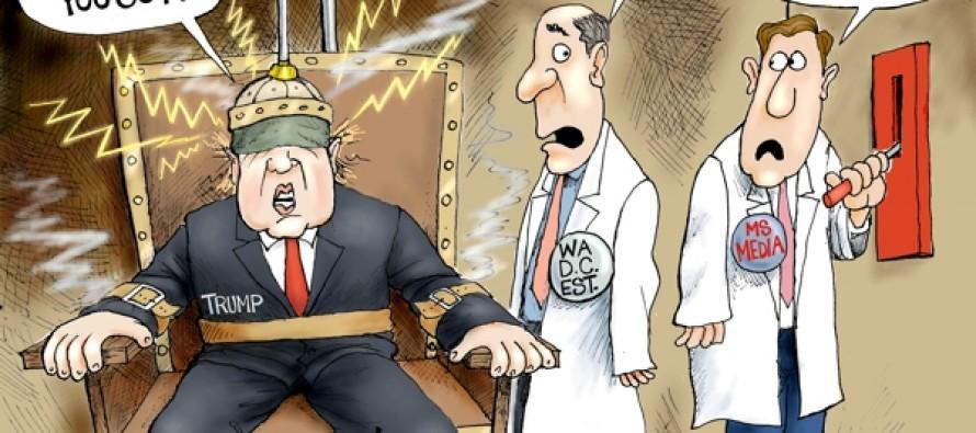 Trump Vs Media (Cartoon)