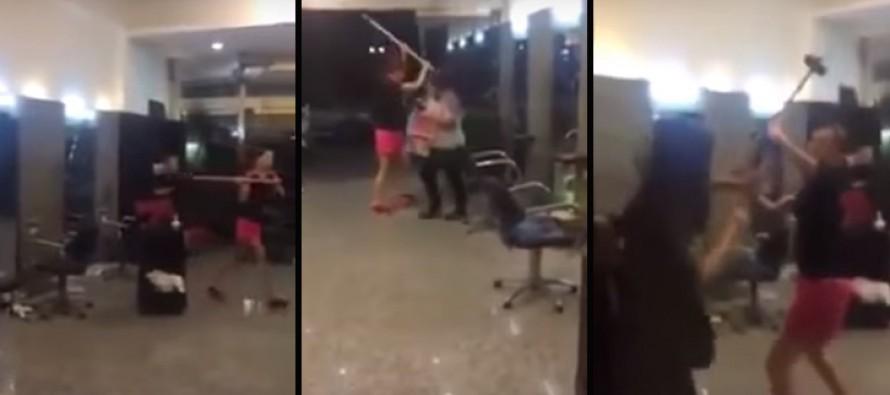 VIDEO: Woman Receives Bad Hair Cut, Retaliates by Trashing Salon
