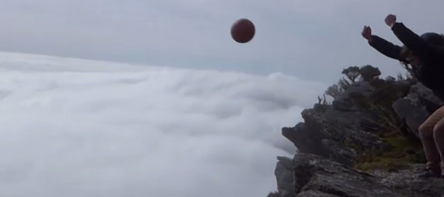 VIDEO: Magnus Effect Makes Basketball Thrown From Clouds Do AMAZING Thing!
