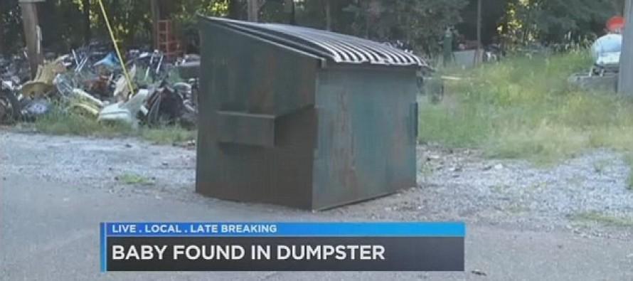 Newborn girl found alive in dumpster after 15-year-old mom gave birth & boyfriend 'threw it away'