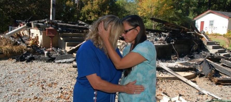 Lesbian Couple Burns Down Their House for Insurance, Blames Neighbor for 'Hate Crime'