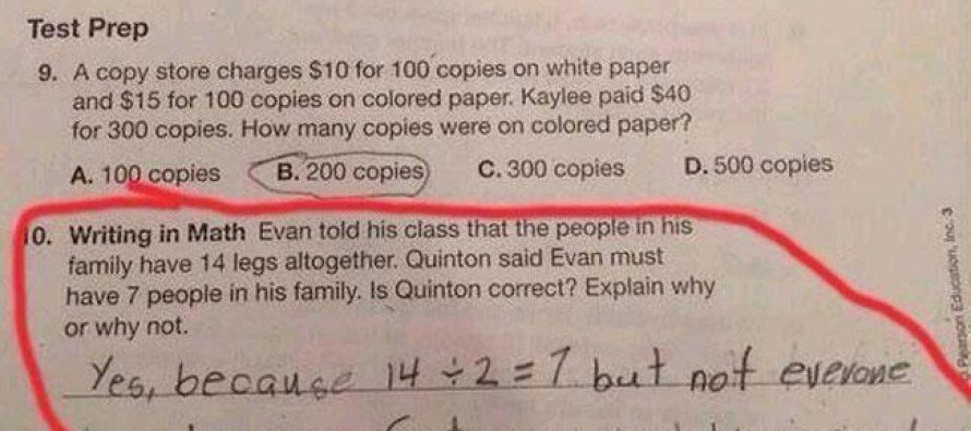 Kid gives the best homework answer ever!