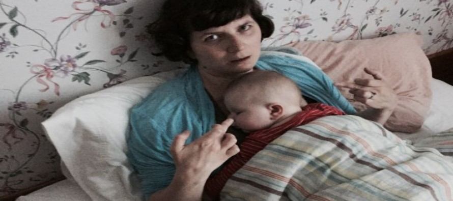 Mom posts astonishingly rude pictures of herself with her baby on Facebook