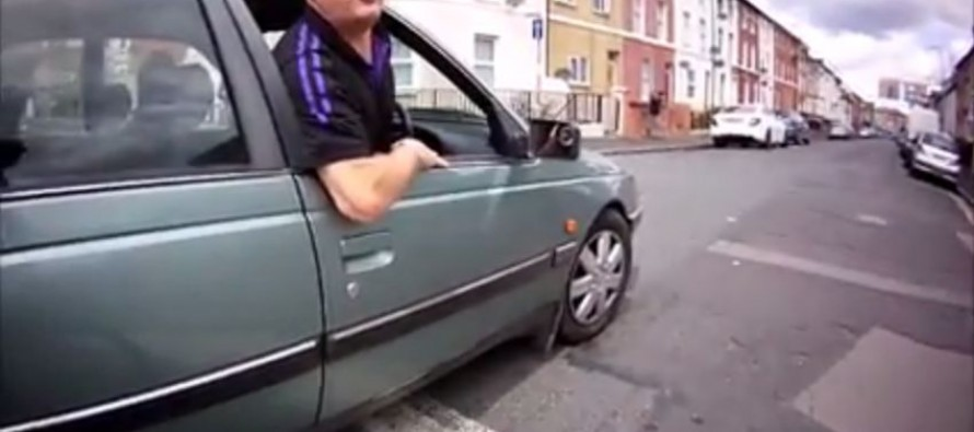 VIDEO: Karma Gets Angry Driver When He Chases Cyclist on Foot