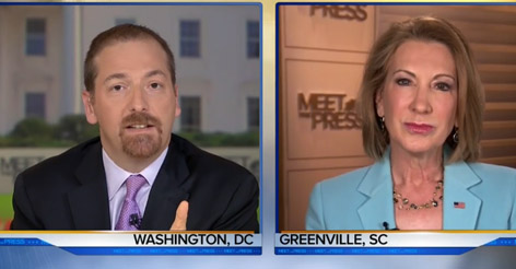 Carly Fiorina Punishes Liberal Reporter For Using Climate Change To Talk About California's Drought