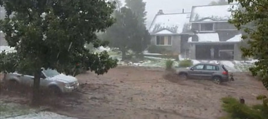 Shocking Video: Flash flood in Colorado washes cars away on residential street