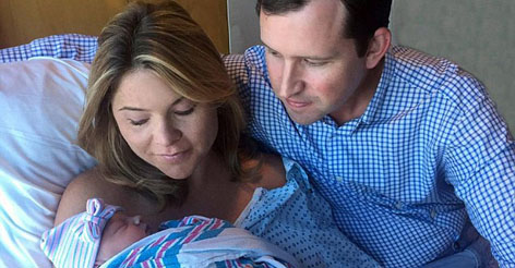 Jenna Bush gives birth to Poppy Louise - and reveals the newborn is named for her 'darling' grandpa