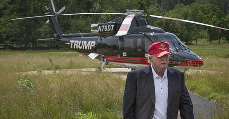 Trump dodges Iowa State Fair ban and Takes Kids for Rides in his Helicopter Anyway