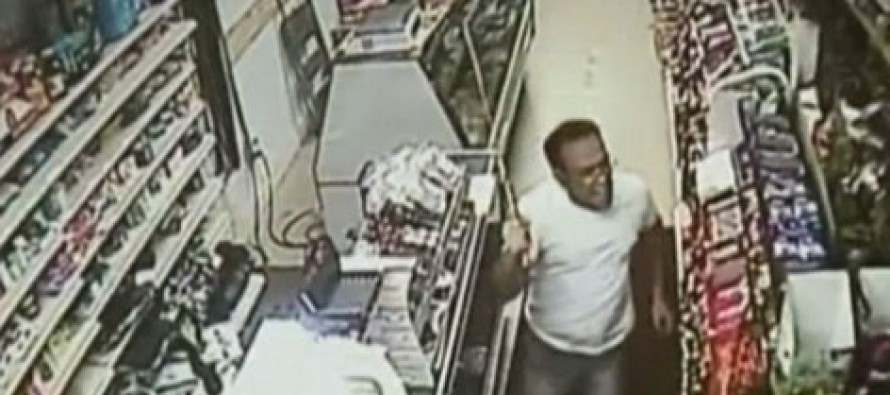 VIDEO: Cashier Fights off Sword Wielding Robbers…with a Bigger Sword!