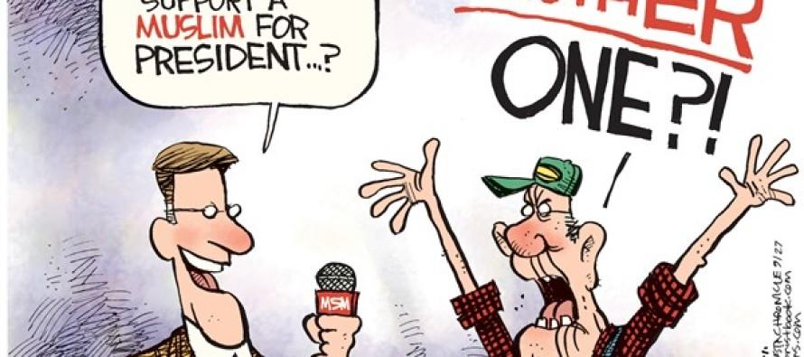 Muslim President (Cartoon)