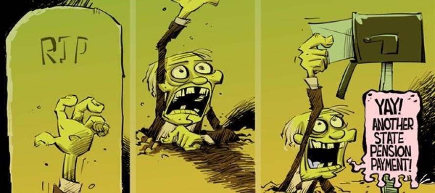 ILLINOIS Paying the dead (Cartoon)