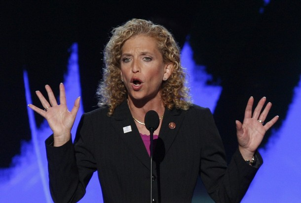 Debbie Wasserman Schultz seconds the nomination of Sen. Barack Obama at the 2008 Democratic National Convention in Denver Colorado