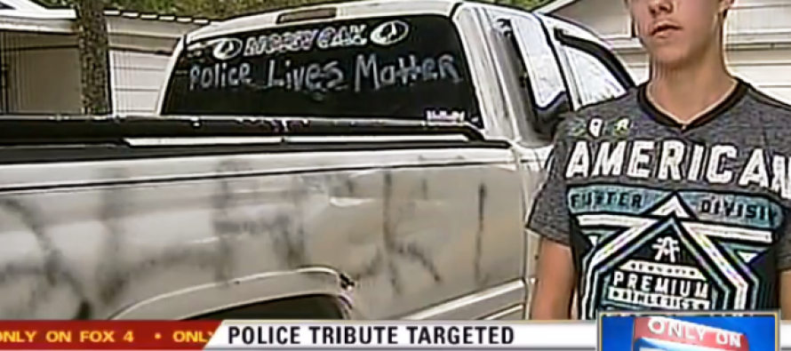 Disabled Veteran's Truck with Pro-Police Message Vandalized: #BlackLivesMatter [Video]