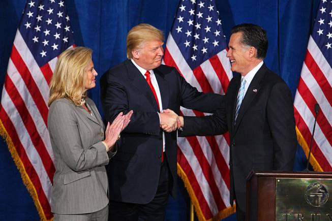 Donald Trump Mitt Romney