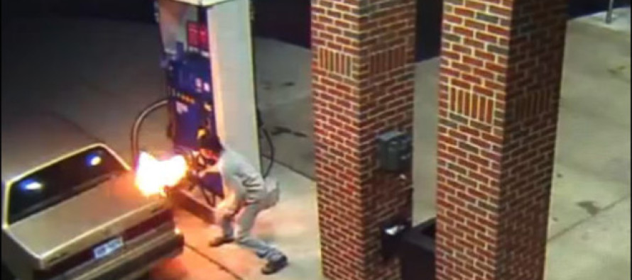 Brilliant! Man Sets Gas Pump and Car Ablaze Trying to Fry Spider with Lighter [Video]