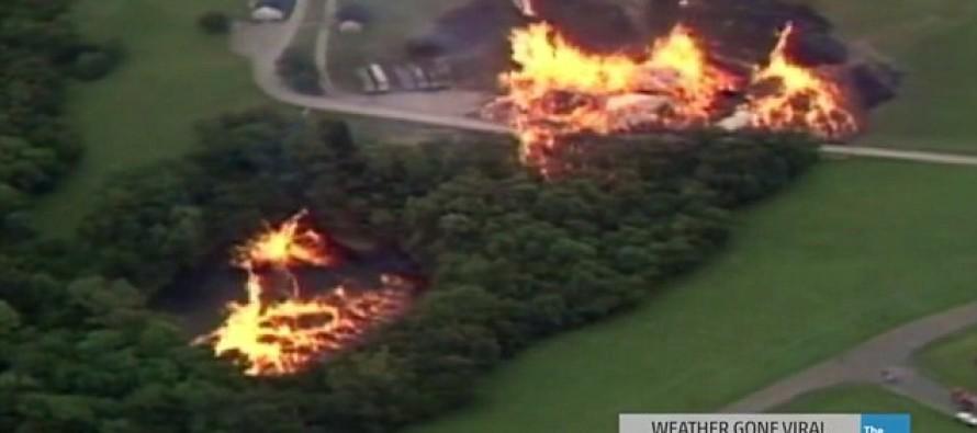 "VIDEO: Lightning Strike on Jim Beam Plant Causes ""Firenado"""