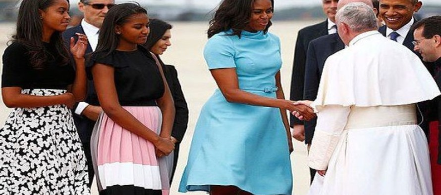 How About An Apology for Ann Romney? Michelle Obama Wears $2000+ Dress To Meet Pope