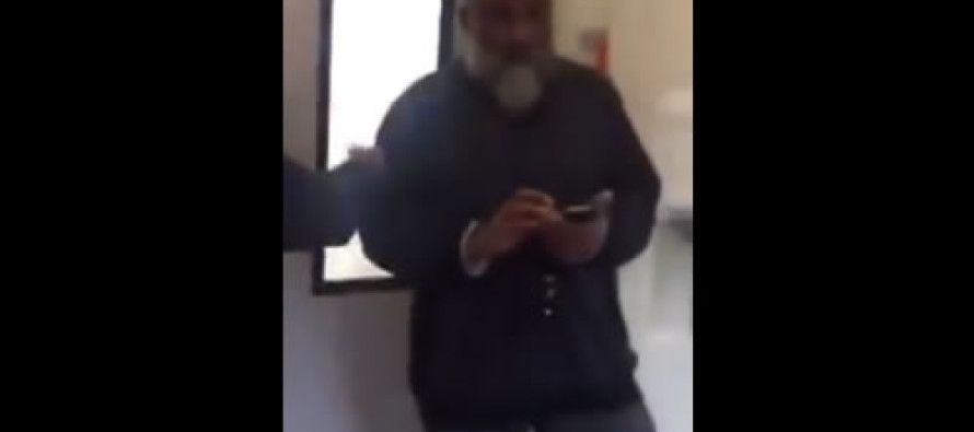 VIDEO: Muslim man yells at Christian woman on train for putting her feet on chair, then threatens to call police