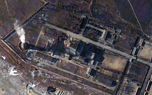 A DigitalGlobe image of Yongbyon nuclear reactor in North Korea Photo: REUTERS