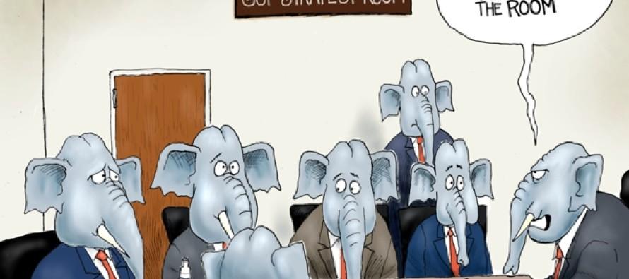 GOP and Trump (Cartoon)