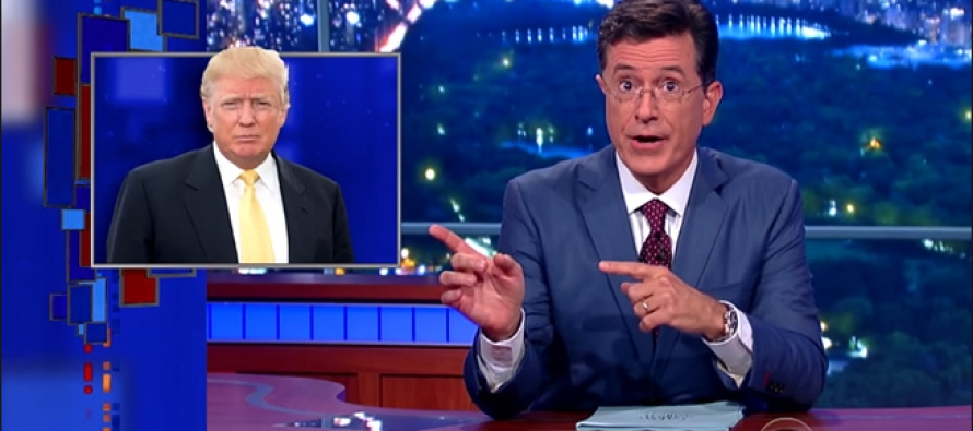 Thud: Stephen Colbert Compares Trump to KKK, Gets Hit By Reality 24 Hours Later