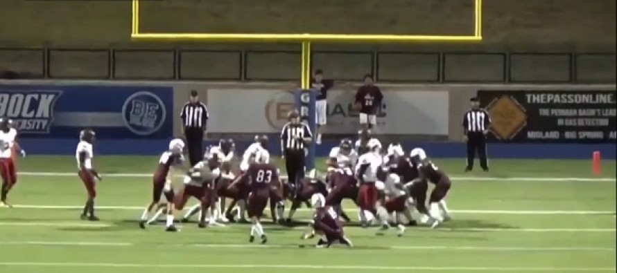 Video: You May Never See This Again — Kicker Uses Ref's Head To Make Extra Point