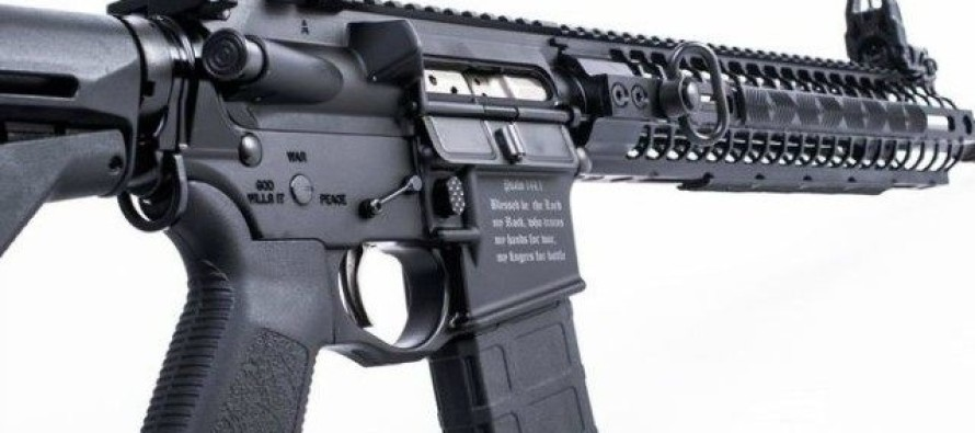 This AR-15 is Etched With a Bible Verse to Keep Muslim Terrorists From Using It