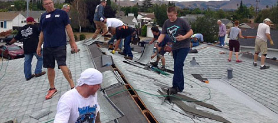 Dozens of strangers came together to fix 75-year-old man's crumbling rooftop after a plea on Facebook