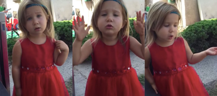 Precocious 4-year-old tells father he must take her flower-girl duties VERY seriously in video