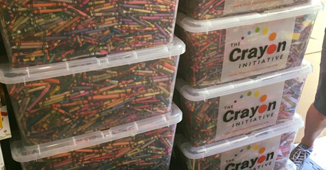 A Father Found a Wonderful Use for Restaurants' Leftover Crayons