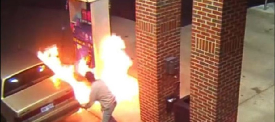 Michigan Motorist kills spider with lighter at gas station; chaos ensues