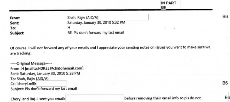 JUST RELEASED: Clinton Email Had a Set of Instructions for Recipients: 'Delete After Reading'